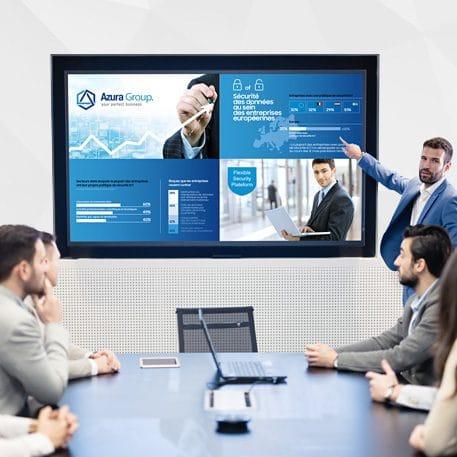 Ecran affichage dynamique entreprise