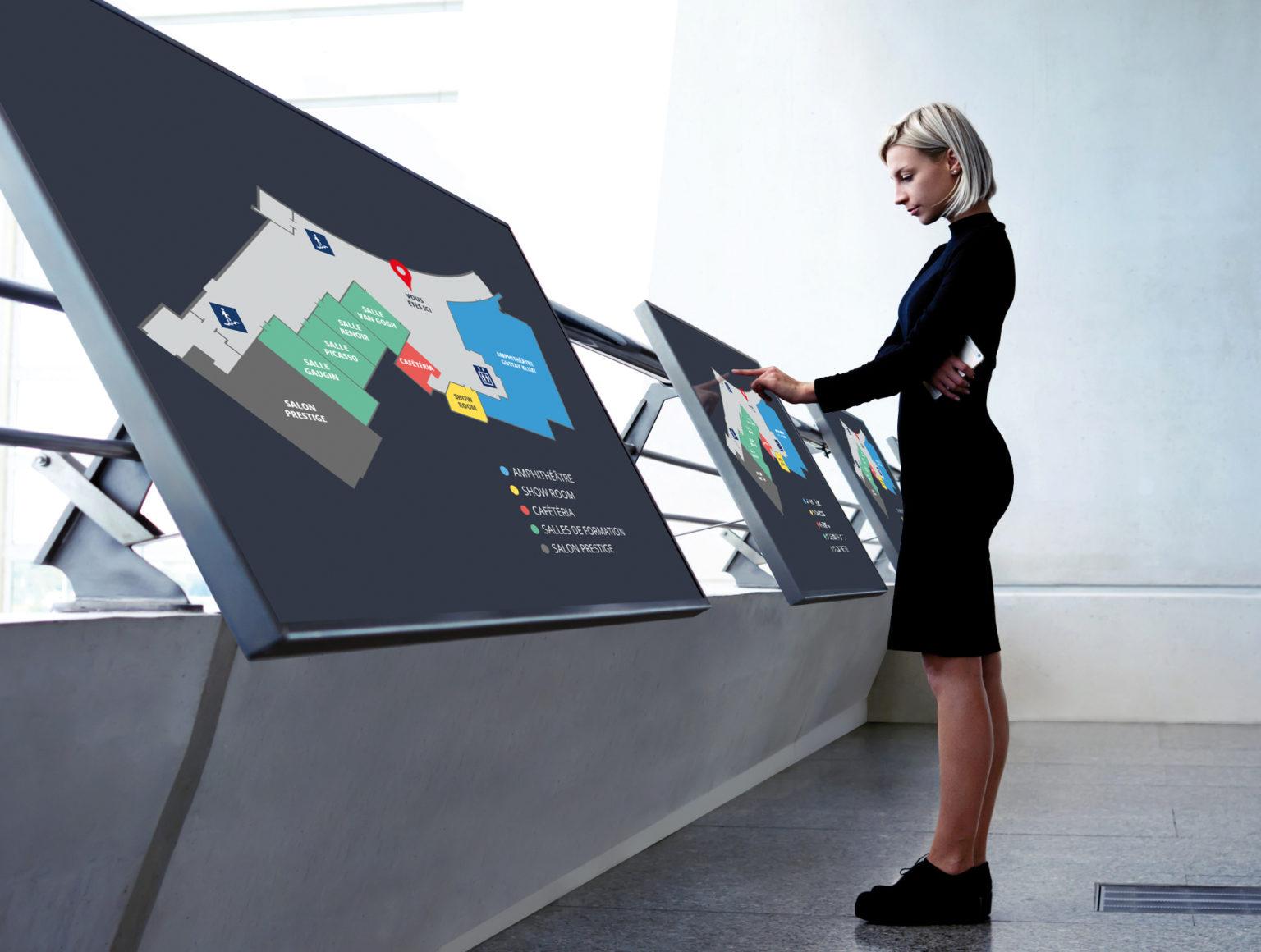 Ecran affichage dynamique plan d'entreprise