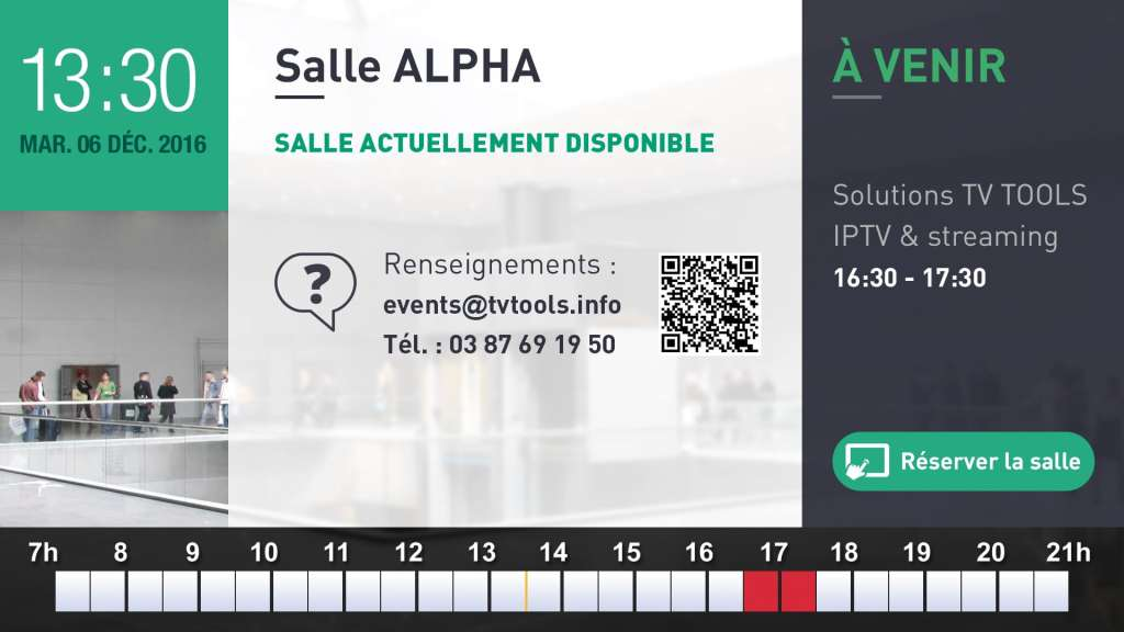 RoomBooking salle disponible